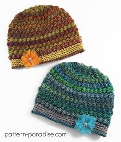 """This hat has pretty texture with easy puffy bobbles for lots of texture. The yarn I used has thin and thicker strands for added texture too."""