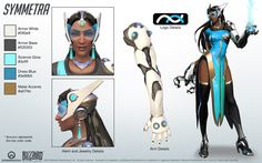 Symmetra from Overwatch. A close look at the model structure from all angles; a great reference for cosplay. Symmetra and Overwatch belongs to Blizzard