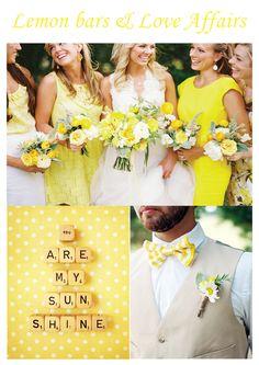 Yellow wedding inspiration...
