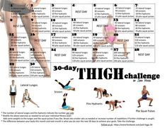 30 day THIGH challenge! Oh lord help my thunder thighs. Im doing this one after…