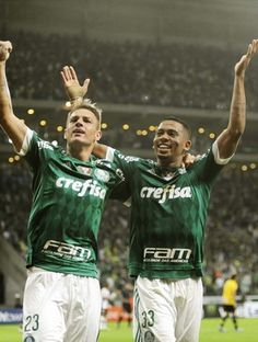 Palmeiras x São Bernardo Gabriel Jesus Róger Guedes (Foto: Marcos Ribolli)