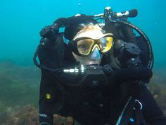 No more cotton mouth!!! ~ warm/moist breathing w/ @diveposeidon SE7EN rebreathers :)  #scubadivergirls #rebreathers