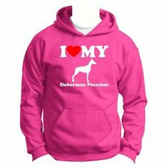#ThisWear #ApparelTops #Love #Doberman #Pinscher #Youth #Hoodie #Sweatshirt I Love My Doberman Pinscher Youth Hoodie Sweatshirt http://www.snaproduct.com/product.aspx?PID=7538218