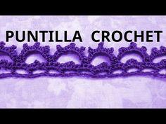 Puntilla N° 45 en tejido crochet tutorial paso a paso. - YouTube