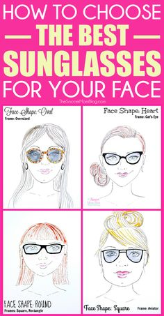 29d95bf9caf Find the best sunglasses for your face shape with this easy visual guide. 4  common