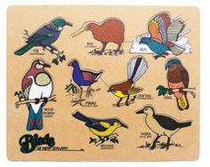 Birds of New Zealand Puzzle - Te Reo Maori Billy Goats Gruff, Little Pigs, Early Childhood Education, New Zealand, Puzzle, Birds, Comics, Toys, Range