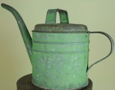original green paint - watering can.