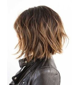 Stylish Choppy Brown Bob