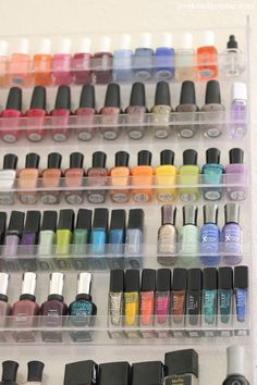 Clear nail polish rack from Amazon
