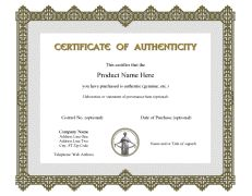 Certificate of authenticity sample art supplies pinterest certificate of authenticity templates yelopaper Choice Image