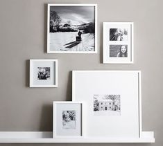 white wood gallery frames | pottery barn