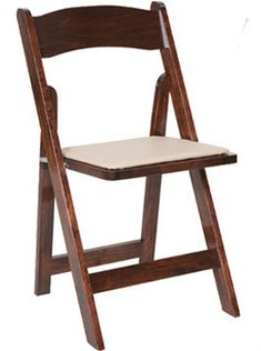 Classic Series Wood Folding Chair Vinyl Padded Seat - Commercial Grade Hardwood - Folding Chairs and Tables.com