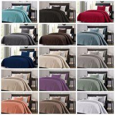 Chezmoi Collection Austin 3-piece Oversized Bedspread Coverlet Set (15 Colors) #Home #Garden #Bedding #Austin