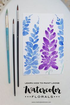 Watercolor How To Paint Loose Flowers