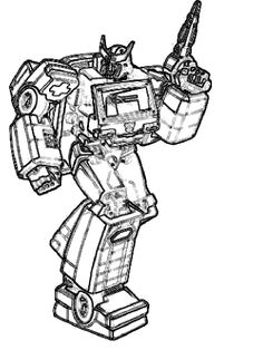Recyclable robot printable coloring pages google search for Ratchet coloring pages