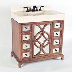 """36"""" Voranado Contempo Sink Chest Bathroom Vanity 27019-110-300 #Ambella #HomeRemodel #BathroomRemodel #BlondyBathHome #BathroomVanity"""