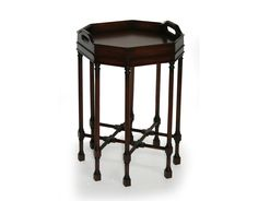 ALDEN PARKES -  Octagonal Accent Table           .    ACTB-STT08       Mahogany finished in an 18th Century stain. Removable serving top. ACTB-STT08