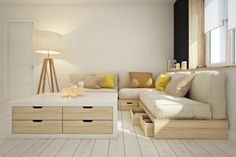 Modular furniture by Curly studio, via Behance