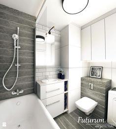 Projekt wnętrza mieszkania, Olkusz - Łazienka, styl nowoczesny - zdjęcie od Futurum Architecture