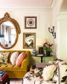 Comfortable Living Rooms, Cozy Living, Eclectic Living Room, Home Living Room, Miltonia Orchid, Traditional Family Rooms, Home Interior Design, Interior Decorating, Matthew Carter