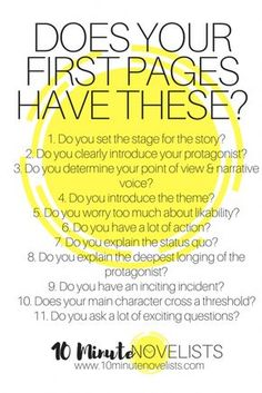 Creative Writing 482940760030938294 - Eleven Requirements For The First Pages of Your Bestseller by Katharine Grubb, 10 Minute Novelist Source by blandinelullaby Creative Writing Tips, Book Writing Tips, Writing Words, Writing Quotes, Fiction Writing, Writing Process, Writing Resources, Writing Help, Writing Skills