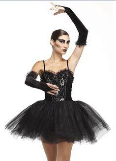 gothic ballerina costume black swan fancy dress sexy halloween costumes at escapade - Halloween Ballet Costumes