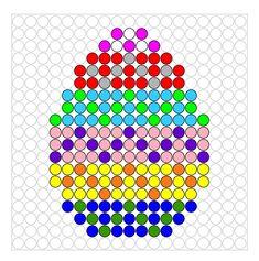 * Ei! Strijkkralen of kralenplank Melty Bead Patterns, Pearler Bead Patterns, Perler Patterns, Beading Patterns, Perler Beads, Fuse Beads, Pony Bead Projects, Van Lego, Iron Beads