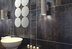 Best METALLIC TILED LOOKS Images On Pinterest Exterior Tiles - Metallic bathroom tiles