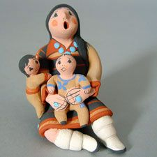 Native American / Indian Storytellers, Rain Gods and Figurative Pueblo Pottery…