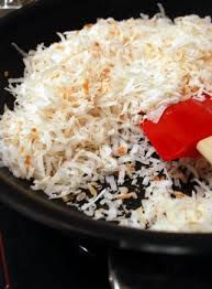 shredded coconut - great in smoothies, fruit crisps, pumpkin porridge, chocolate chip cookies, homemade chicken tenders, baking and making your own coconut milk.