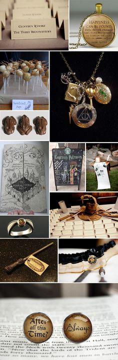 The  most amazing wedding idea! Wednesday Wedding Inspiration: Harry Potter. Not sure id ever do it, but LOVE! #WeddingIdeasSouvenir