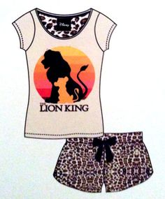 PRIMARK Ladies DISNEY THE LION KING SIMBA LOGO Pyjamas SHORTS & T SHIRT PJ