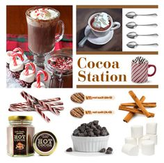 """Cocoa Station with Hot Winter Drinks"" by lgb321 ❤ liked on Polyvore featuring interior, interiors, interior design, home, home decor, interior decorating, Sur La Table, Cassia and Dolce Vita"
