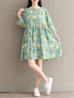 Floral Print Tie Back Dresses fall outfits with dresses, fashion womens dresses, lulus dresses Cheap Summer Dresses, Simple Dresses, Casual Dresses For Women, Cute Dresses, Clothes For Women, Dress Casual, Frock Fashion, Women's Fashion Dresses, Steampunk Fashion