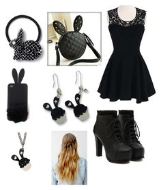"""""""Shadow Bonnie from fnaf"""" by ariannagotstyle ❤ liked on Polyvore"""