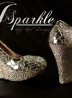 Mirror Glass Wedge Wedding shoe High Heel Pump 2012 NEW Coll,  Shoes, mirror glass  high heels  heels  pumps, Casual