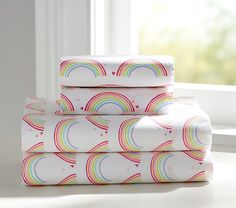 http://www.potterybarnkids.com/products/organic-rainbow-sheet-set/?pkey=cgirls-sheeting