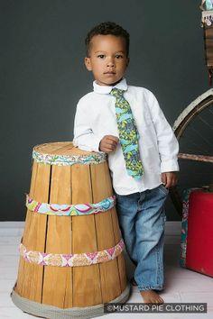 Gingersnaps Kids Boutique - Mustard Pie Aqua Mint Boy's Necktie (sz Small-Large), $28.00