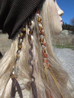 Leather Beaded Hair Wraps