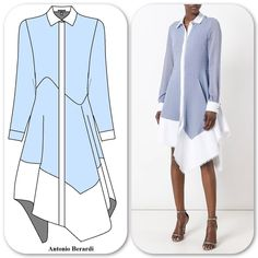 A short sleeve version would be more realistic for my lifestyle but this is a beautiful shirt dress, Love the textured silk cotton too. Iranian Women Fashion, African Fashion, 60 Fashion, Fashion Dresses, Fashion Design, Contemporary Fashion, Sewing Clothes, Classy Outfits, Clothing Patterns