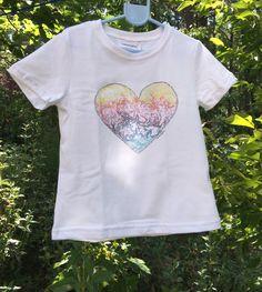 Camiseta Smartyfun-Corazón de colores