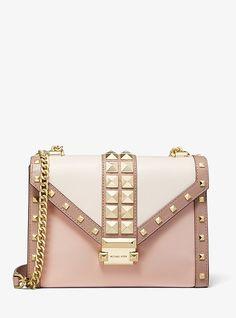 Michael Kors Wallet, Handbags Michael Kors, Purses And Handbags, Hand Painted Shoes, Studded Bag, Mk Bags, Simple Bags, Luxury Bags, Fashion Bags