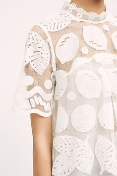 Lily Lace Blouse, White