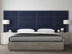 Vänt Upholstered Wall Panels - King/Cal King Size Wall Mounted Headboards - Plush Velvet Smoke Gray - Pack of 4 Panels (Each Individual Panel Bed Wall, Bedroom Wall, Wall Headboard, Velvet Headboard, Modern Headboard, Accent Wall Panels, Upholstered Wall Panels, King Size Headboard, Bedroom Bed Design
