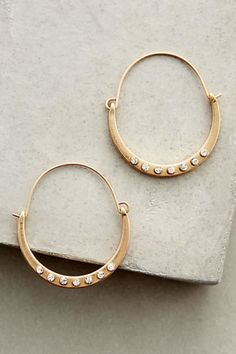 Crystal-Dotted Hoops
