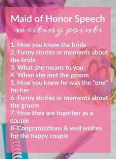 Tips for Writing & Presentating A Really Good Maid of Honor Speech | theblueeyeddove.com