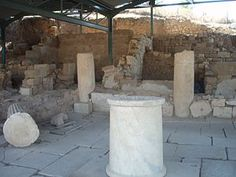 Ierissos village, Chalkidiki prefecture, Greece - Ancient Akanthos house. П-п война