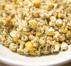 Chamomile tea can ease the discomfort of menstrual cramps. Learn more in the new book THE HERBAL APOTHECARY.