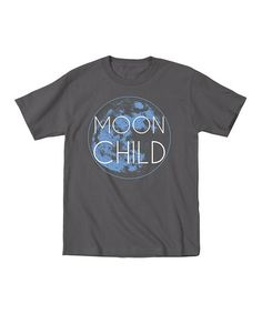 Look at this #zulilyfind! Charcoal 'Moon Child' Tee - Toddler & Kids by KidTeeZ #zulilyfinds