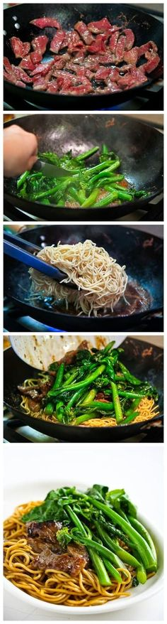 Chinese Broccoli Beef Noodle Stir Fry - this is so delicious!! It tastes better than restaurant Chinese and it's definitely 100x healthier. It was very easy to make too!!